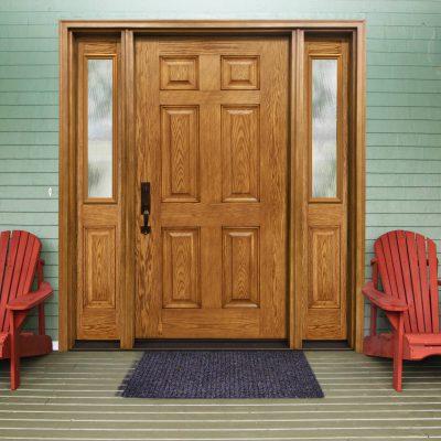 0277 oak Door with trimlite mistlite glass