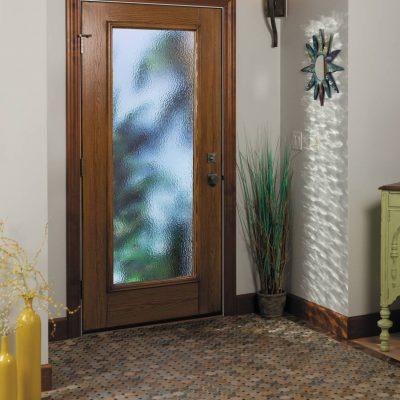 0278 oak Door with ODL cumulus glass