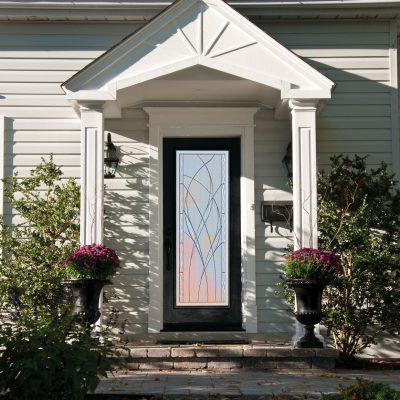 O318 oak Door with ODL waterside glass