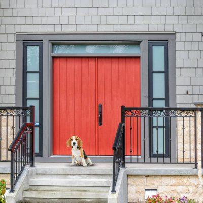 c125 rustic cherry wide plank DOOR