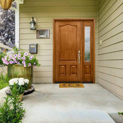 c220 cherry Door with regelead serenity glass