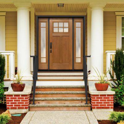 f306 fir Door with pinhead glass