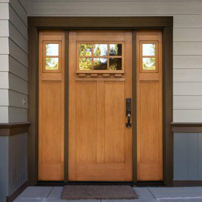 f313 fir Door with dentil shelf